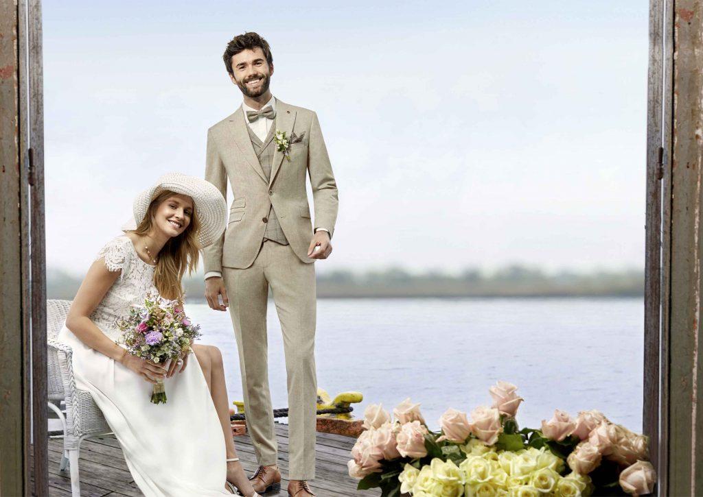 Vintage Hochzeitsanzug von WILVORST in beige