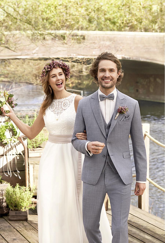 Vintage Hochzeitsanzug von WILVORST in blau