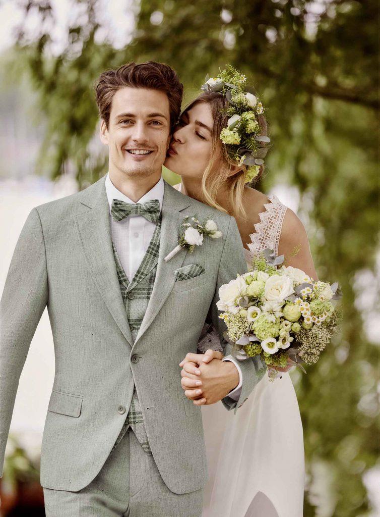 Vintage Hochzeitsanzug von WILVORST in grün